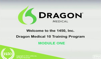 1450 Dragon Medical Training Program